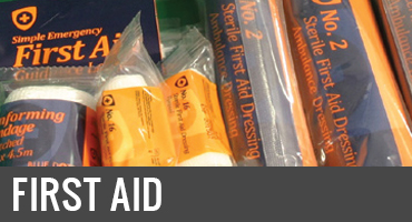 First aid and safety supplies