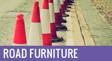 Road furniture and cones